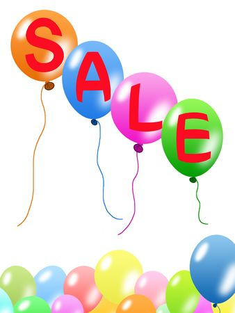 Colorful sale balloons Stock Photo - 5647059