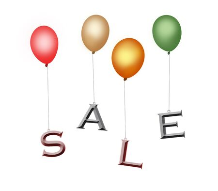 Colorful balloons sale Stock Photo - 5647083