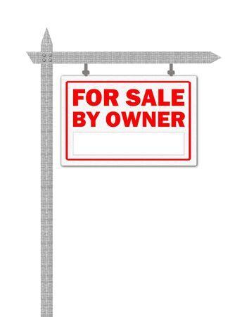 Maison de vente signe, propriétaire de biens immobiliers Banque d'images - 5666202
