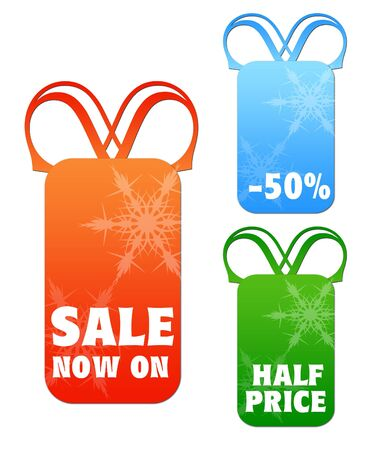 Christmas snowflake sale tags Stock Photo - 5666203