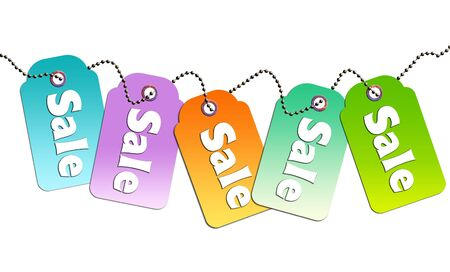 Colorful sale tags  Stock Photo - 5666206