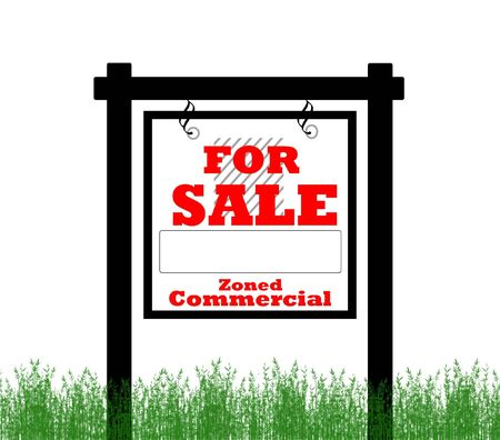zoned: Real Estate home for sale sign, zoned commercial