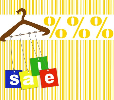 Hanger with sale tags Stock Photo - 5725249