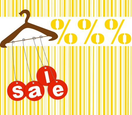Hanger with sale tags Stock Photo - 5725260
