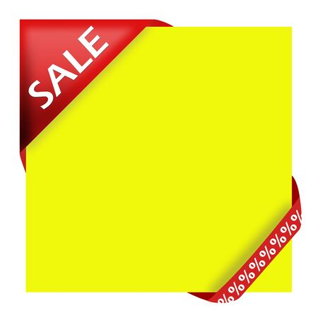 Red corner ribbon with sale sign for your shop photo