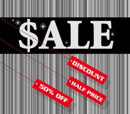 Sale sign and discount tag photo