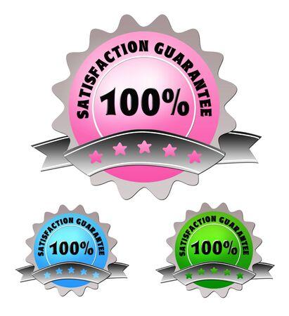 Colorful Label von Zufriedenheitsgarantie  Standard-Bild - 5771397
