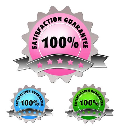 Colorful label of satisfaction guarantee Stockfoto