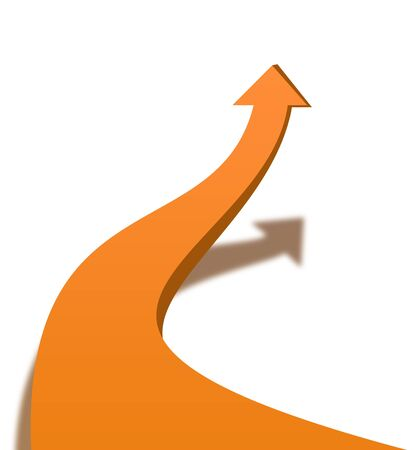 swerve: Orange arrow pattern Stock Photo