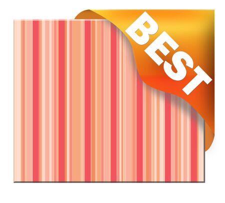 best: Golden corner ribbon with best sign Stock Photo