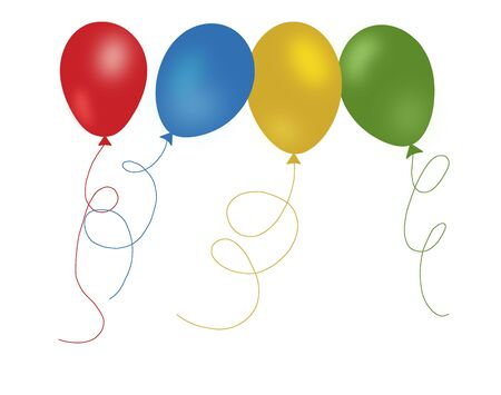 Colorful balloons pattern photo