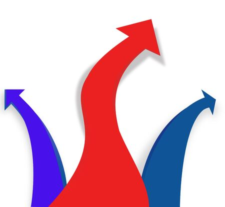 Red and blue arrows pattern Stock Photo - 5817606
