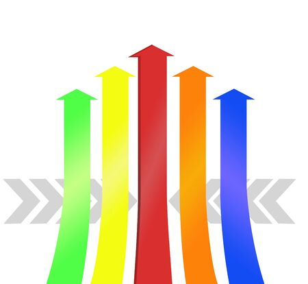 Colorful arrows pattern background photo