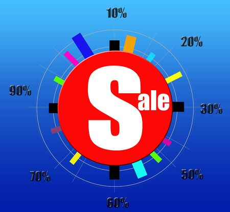 Sale and discount clock design poster photo