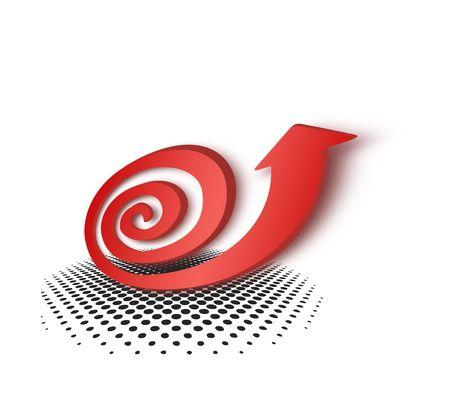 swerve: Red arrow snail pattern