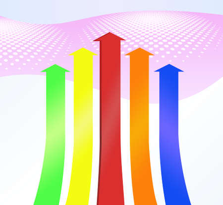 slew: Colorful arrows pattern Stock Photo