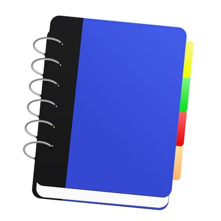 notebook: A Blue notebook