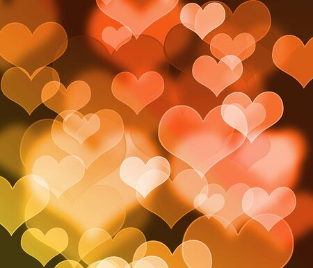 Abstract colorful hearts background  photo