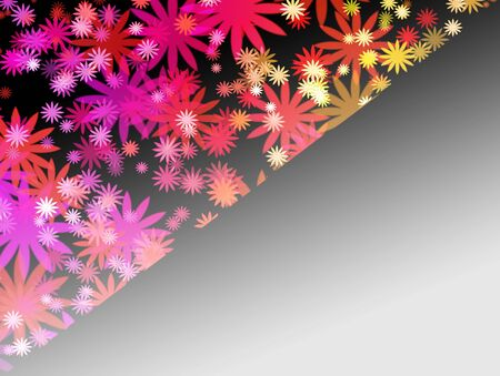 Abstract colorful flower background  免版税图像