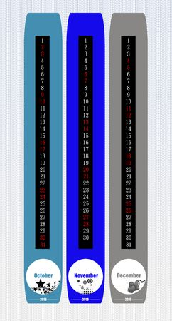 scheduler: Bookmark style calendar  Stock Photo