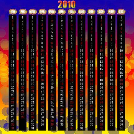scheduler: 2010 whole year calendar