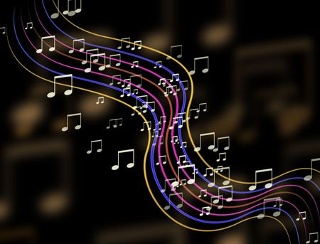 Abstract colorful music sign background  photo