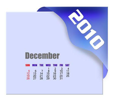 december: December of 2010 Calendar