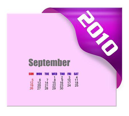 September of 2010 Calendar