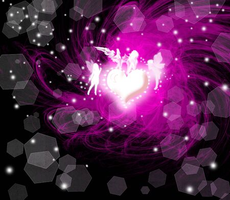 Abstract colorful light and angel background