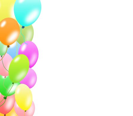 Colorful balloons border  Stock Photo - 6390645