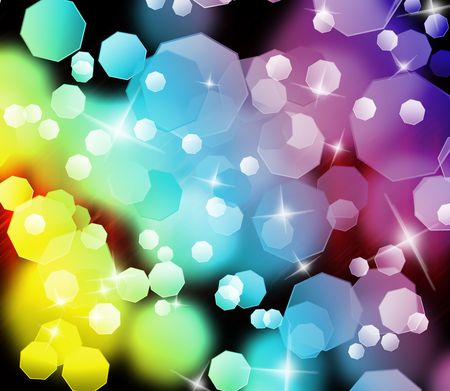color effect: Abstract colorful light background