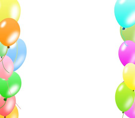 Colorful balloons border  photo