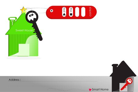 smart: Smart home with remote control  Stock Photo