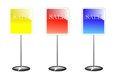 Colorful sale stands  photo