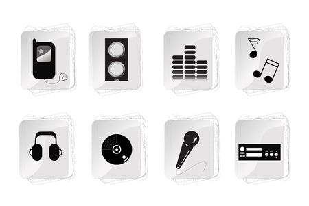 Abstract music equipment icon  photo