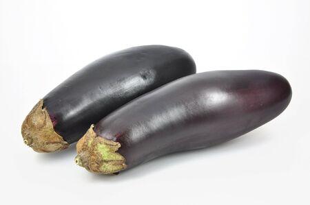 Isolated aubergine on white background