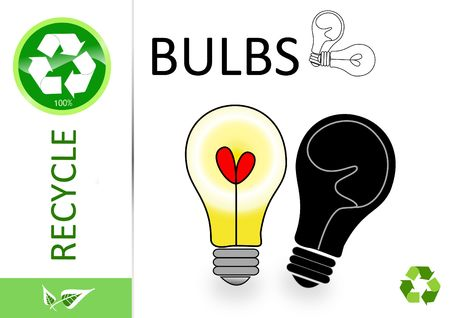 finite: Please recycle bulbs  Stock Photo