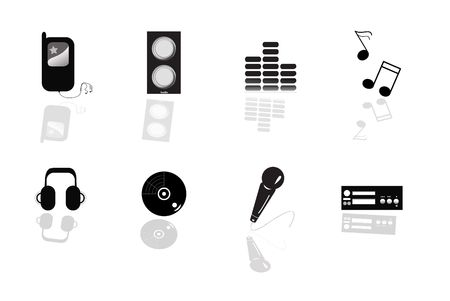 finite: Abstract music equipment icon