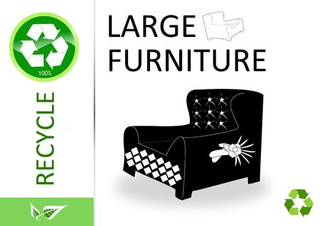 finite: Please recycle large furniture  Stock Photo