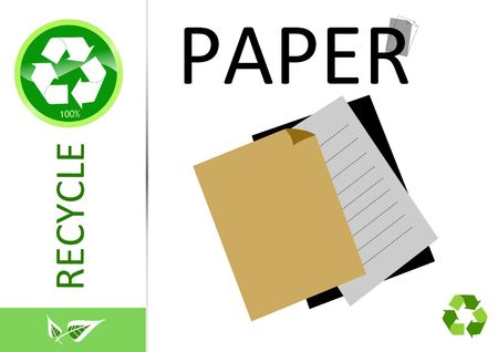 Please recycle paper Imagens