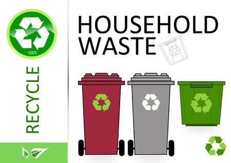 household waste: Please recycle household waste