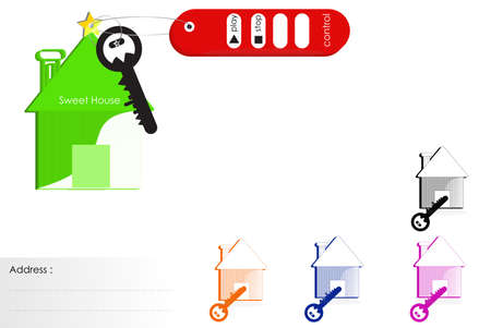smart: Abstract smart key system Stock Photo