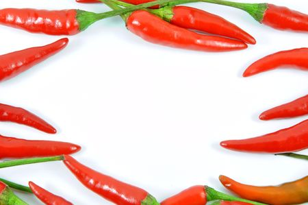 Fresh red pepper border  Stock Photo - 6893366
