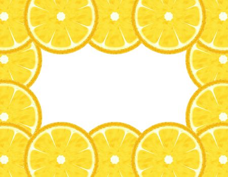 Slice lemon border  photo