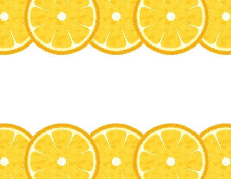Slice lemon border Фото со стока - 6893377