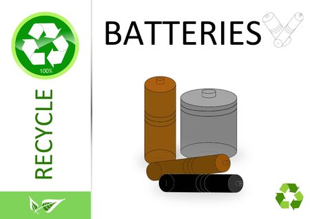 Please recycle batteries Stock Photo - 6893385