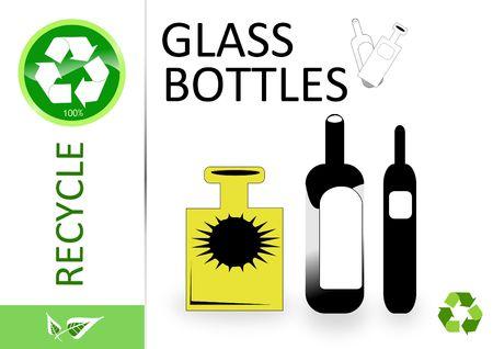 reciclar vidrio: Por favor, reciclaje de botellas de vidrio y