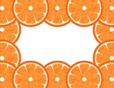 Abstract slice grapefruit border