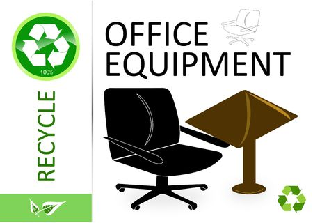 finite: Please recycle office equipment  Stock Photo