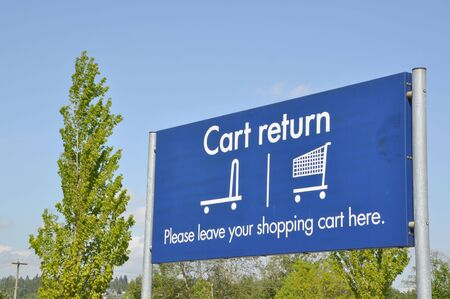 Shopping cart return sign Stock Photo - 7007988